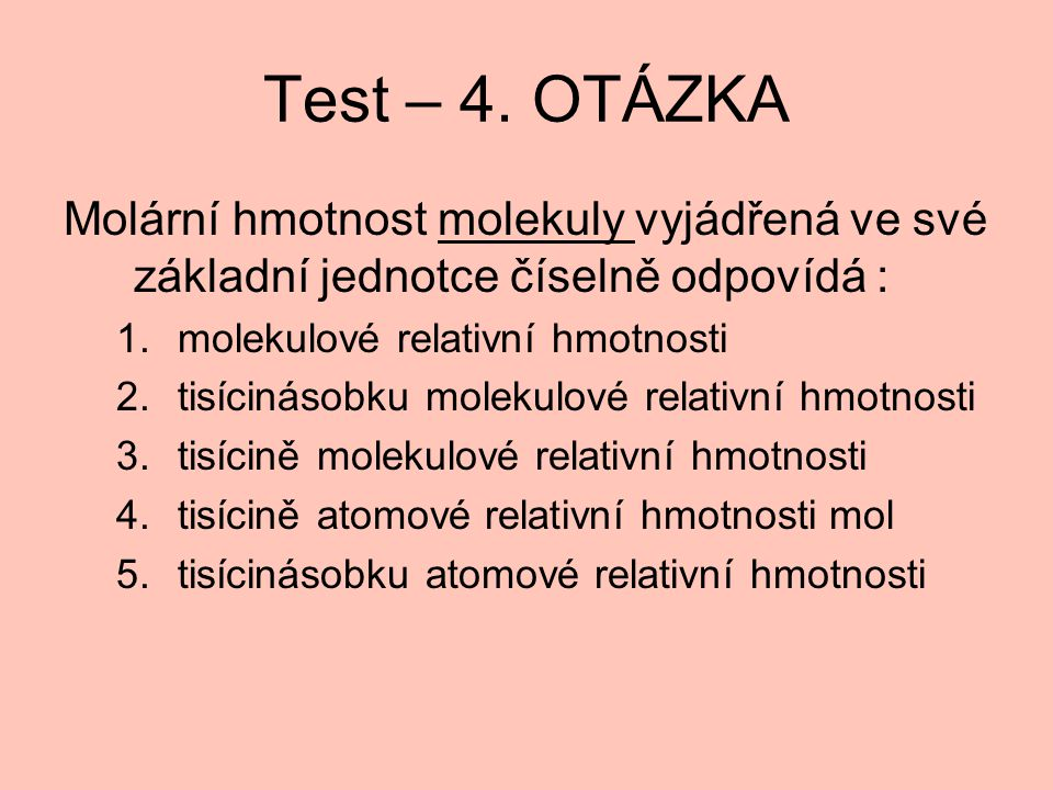 Test – 4.