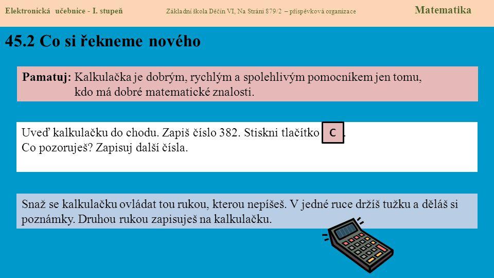45.3 Co si řekneme nového Elektronická učebnice - I.