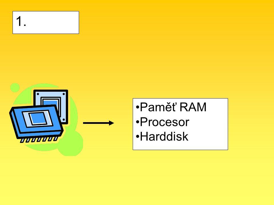 1. Paměť RAM Procesor Harddisk