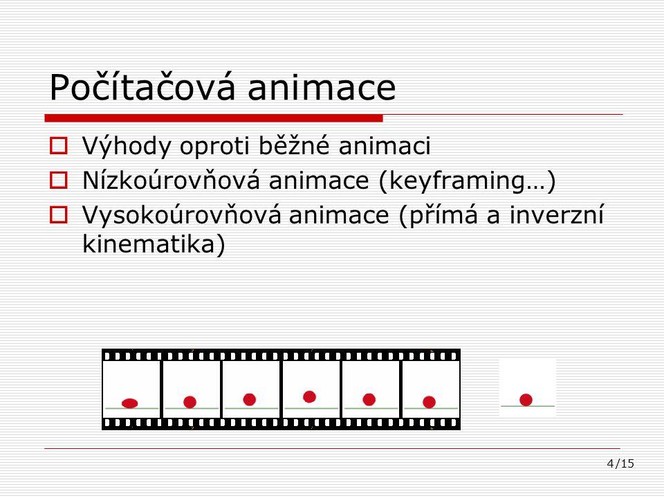 15 Zdroje  [1]Slady et al.Animace. Wikipedie, otevřená encyklopedie.