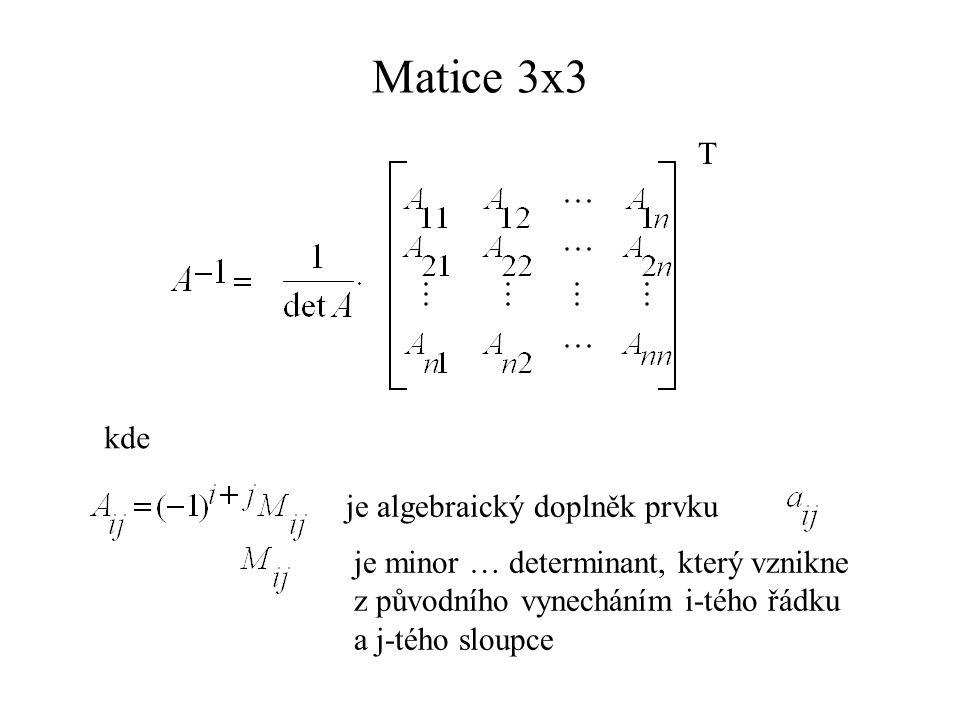 charakteristická rovnice dvojnásobný kořen neřešíme…. vezmeme pouze
