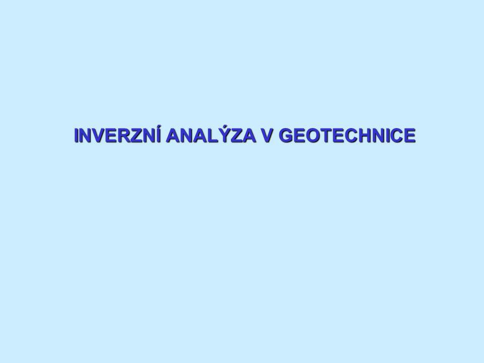 INVERZNÍ ANALÝZA V GEOTECHNICE
