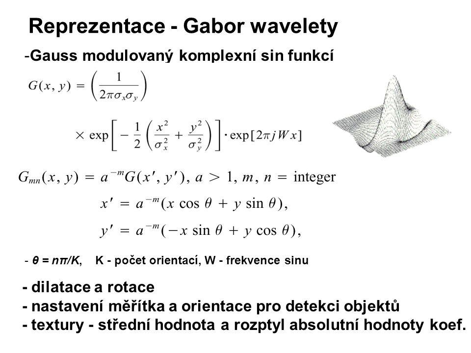 - dilatace a rotace - nastavení měřítka a orientace pro detekci objektů - textury - střední hodnota a rozptyl absolutní hodnoty koef.