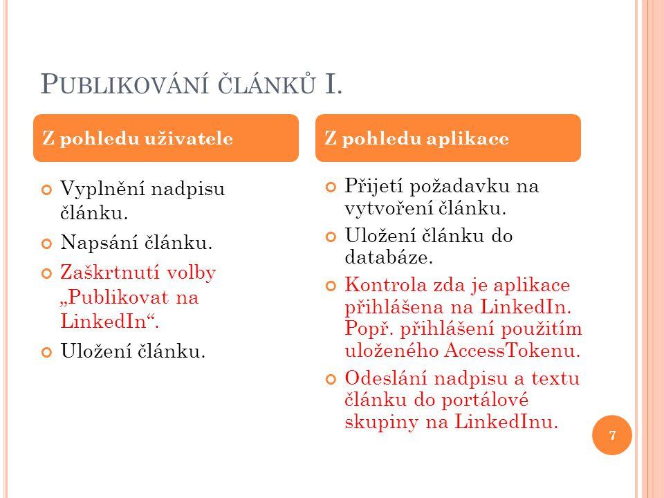 P UBLIKOVÁNÍ ČLÁNKŮ I. 7 Vyplnění nadpisu článku.