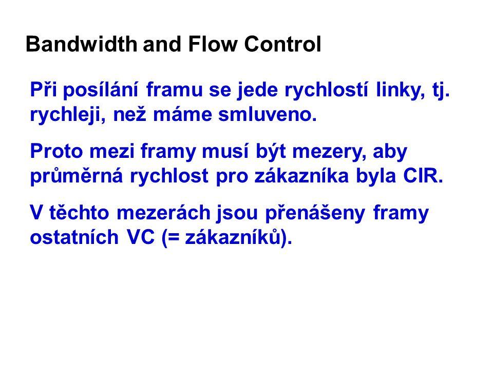 Bandwidth and Flow Control Při posílání framu se jede rychlostí linky, tj.