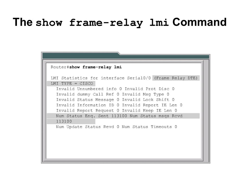 The show frame-relay lmi Command