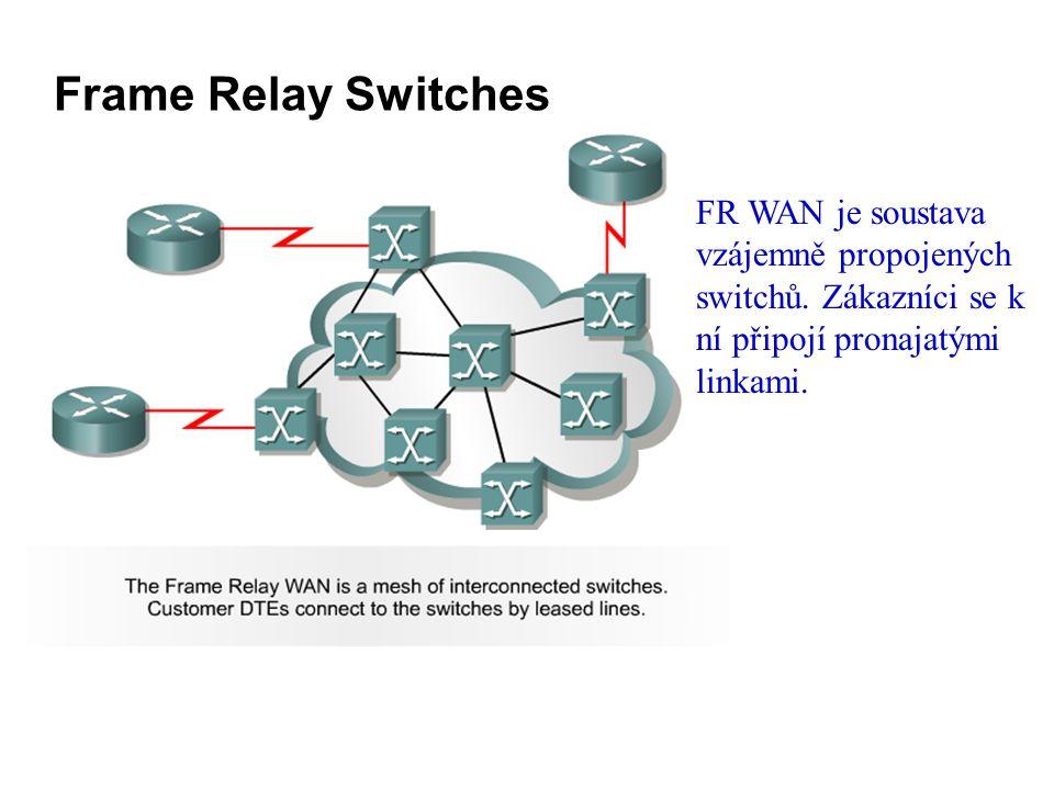 Frame Relay Switches FR WAN je soustava vzájemně propojených switchů.