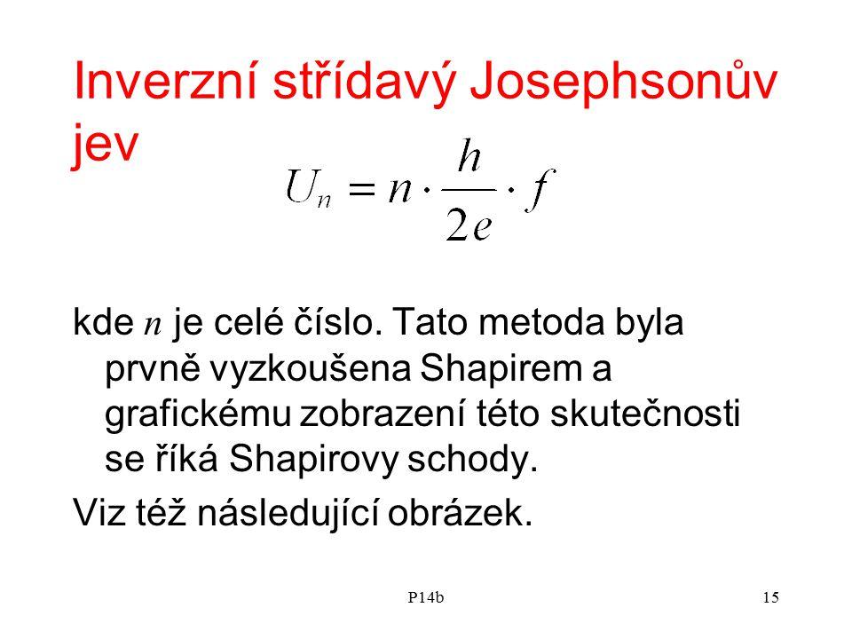 P14b15 Inverzní střídavý Josephsonův jev kde n je celé číslo. Tato metoda byla prvně vyzkoušena Shapirem a grafickému zobrazení této skutečnosti se ří