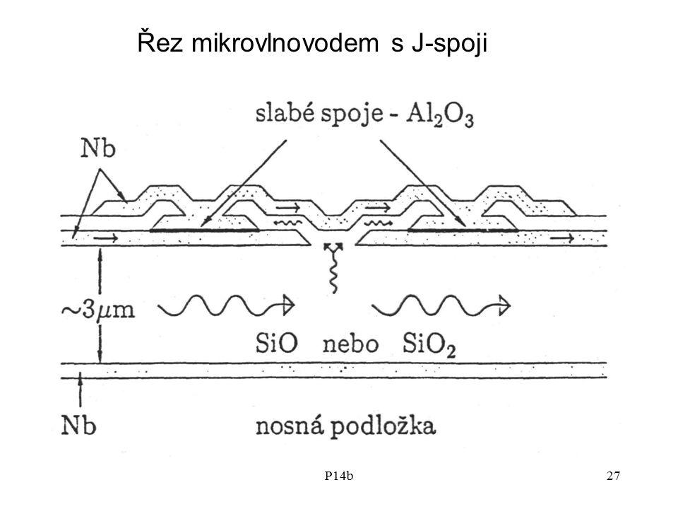 P14b27 Řez mikrovlnovodem s J-spoji