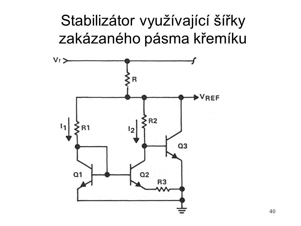 P14b40 Stabilizátor využívající šířky zakázaného pásma křemíku