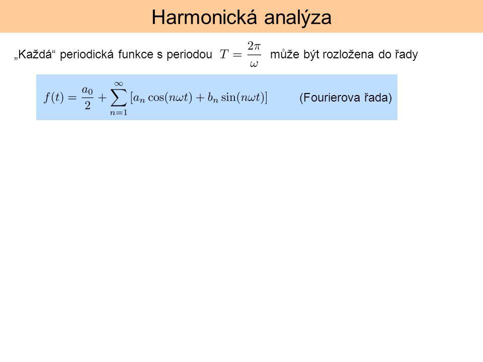 "Harmonická analýza ""Každá"" periodická funkce s periodou může být rozložena do řady (Fourierova řada)"