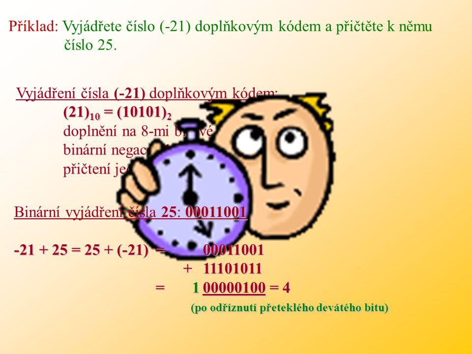 Pokud se sečte záporné číslo vyjádřené doplňkovým kódem s jiným záporným nebo větším kladným číslem, dojde k přetečení rozsahu. Kód je ale zvolen tak,