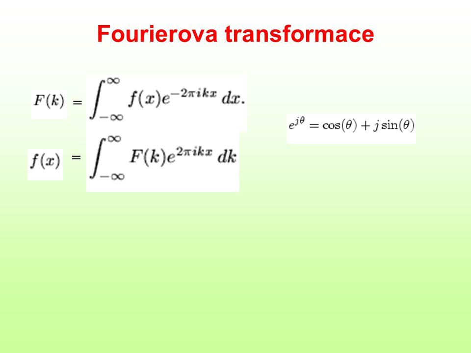 Vlastnosti FT linearita posun shift theorem konvoluce convolution theorem = rotace změna měřítka similarity theorem F(R(f)) = R(F(f))