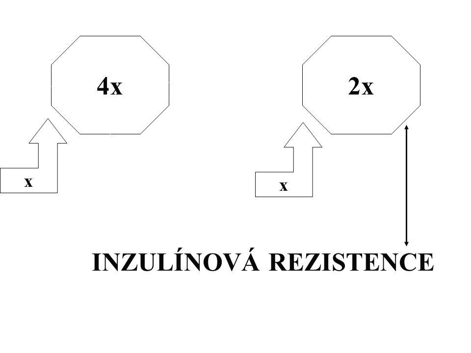 4x x x 2x INZULÍNOVÁ REZISTENCE