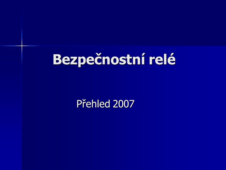 Bezpečnostní relé Přehled 2007