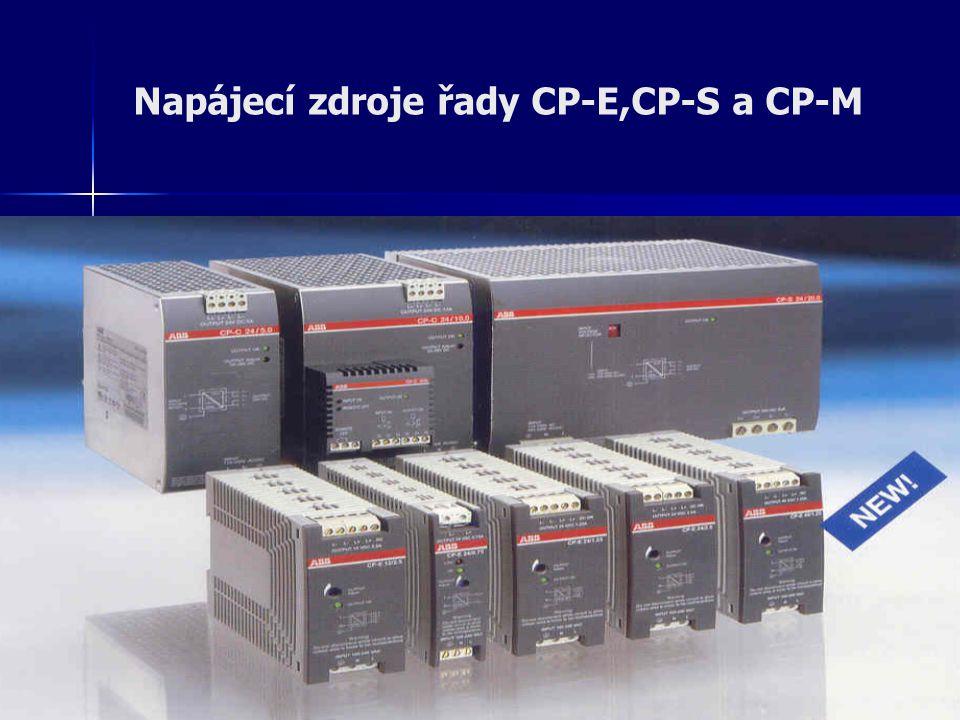 Napájecí zdroje řady CP-E,CP-S a CP-M