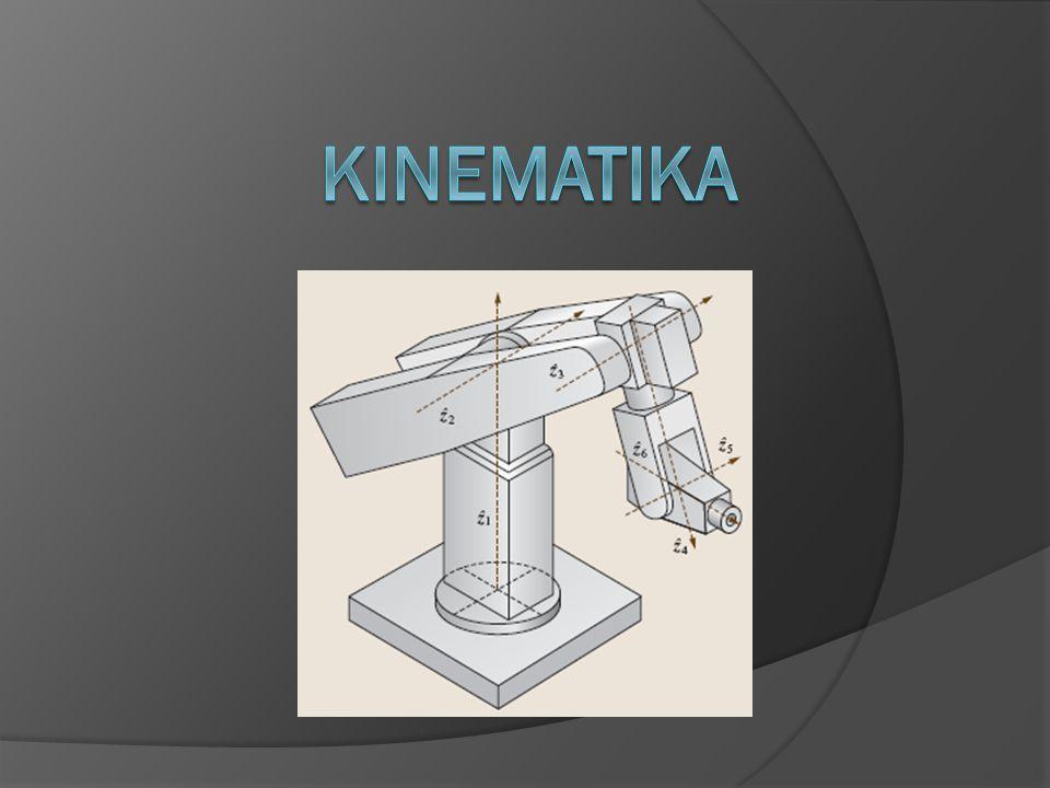  Stupně volnosti, kinematický řetězec  Pohyb a transformace (translace, rotace, sférický pohyb)  Přímá a inverzní úloha kinematiky  Varování: vektory T
