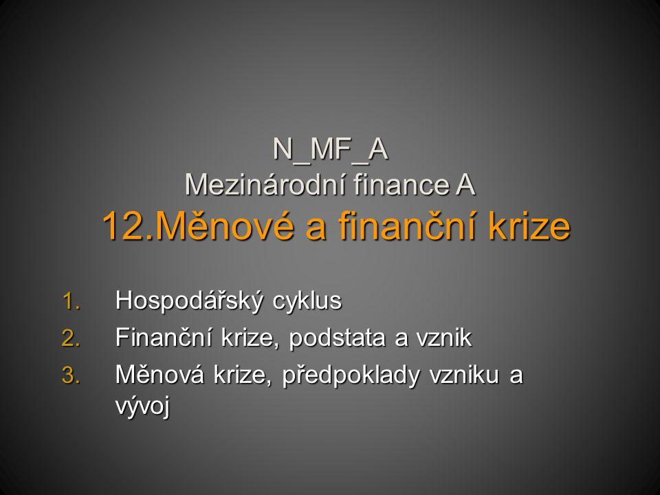 N_MF_A Mezinárodní finance A 12.Měnové a finanční krize 1.