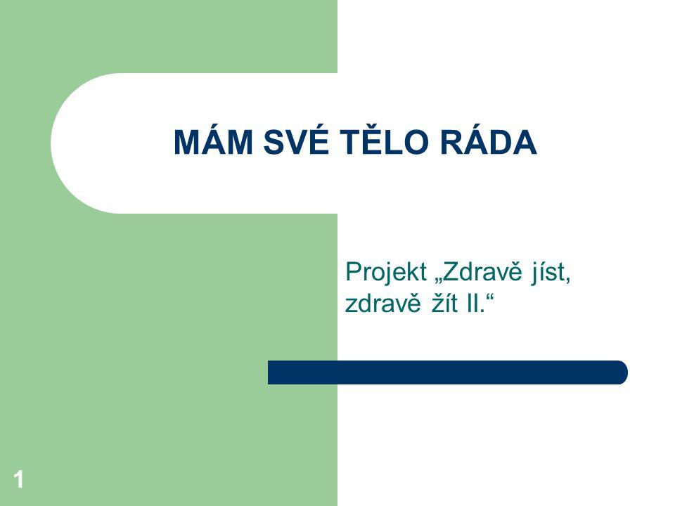 """1 MÁM SVÉ TĚLO RÁDA Projekt """"Zdravě jíst, zdravě žít II."""