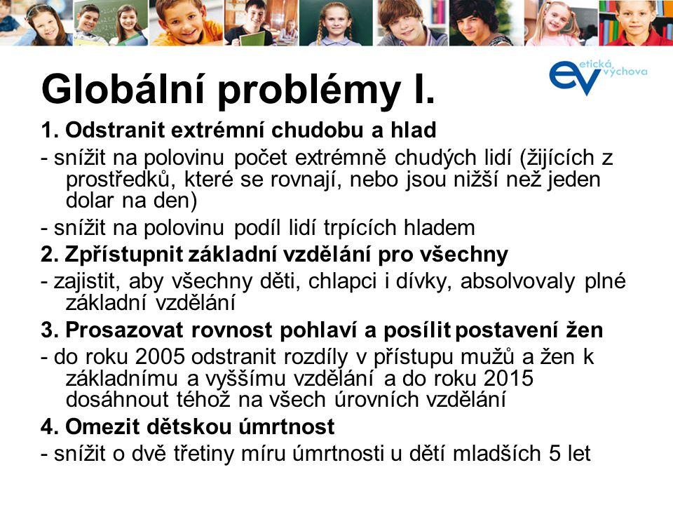Globální problémy I. 1.
