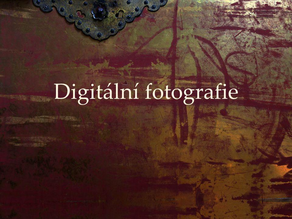 Digitál se představuje:  digitální zrcadlovka – nejblíže klasice  kompaktní fotoaparáty  EVF: zrcadlovky bez zrcadla  3 základní části:  čip  tělo  optika
