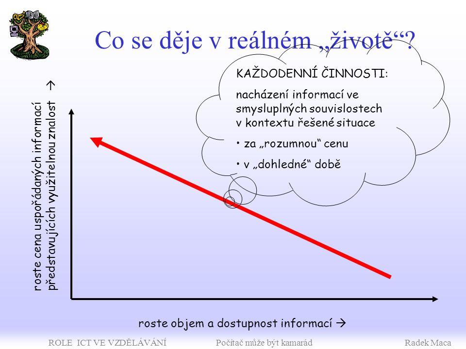 ROLE ICT VE VZDĚLÁVÁNÍ Počítač může být kamarádRadek Maca Jak se člověk učí.