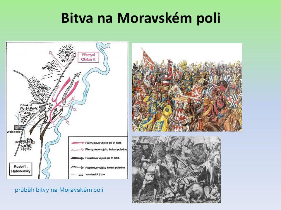 Bitva na Moravském poli průběh bitvy na Moravském poli