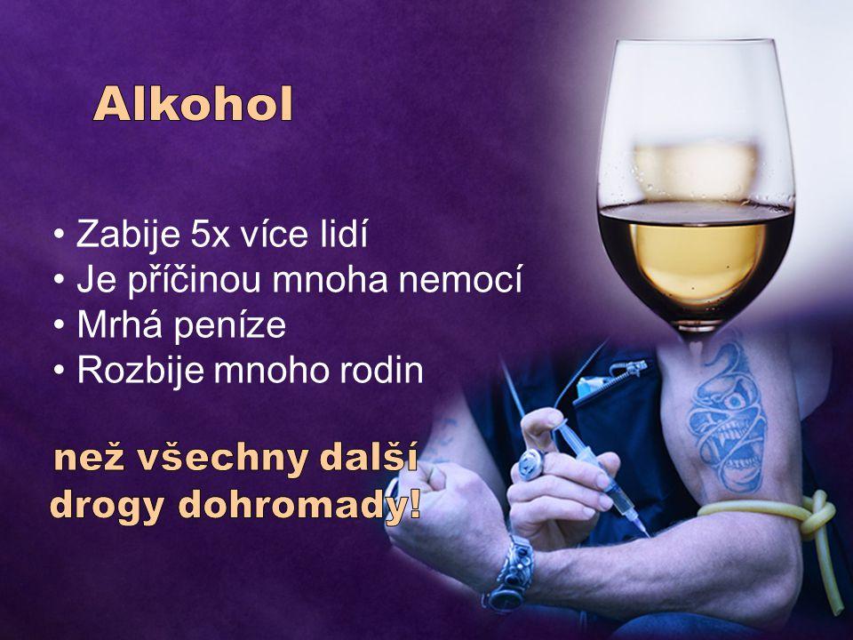 Nejnebezpečnější droga na světě Alkohol