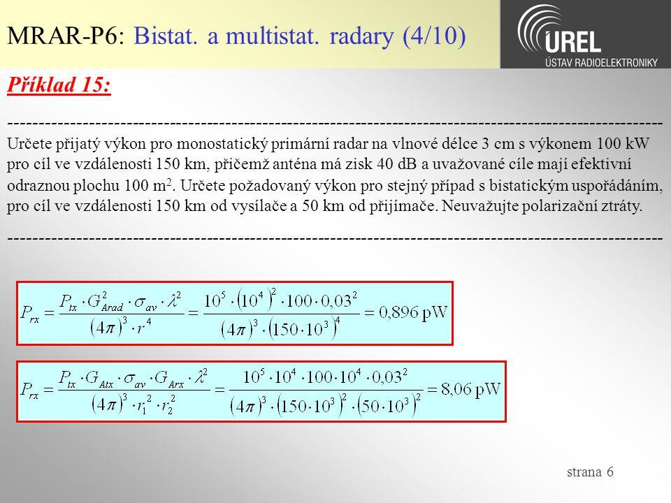 strana 6 MRAR-P6: Bistat.a multistat.