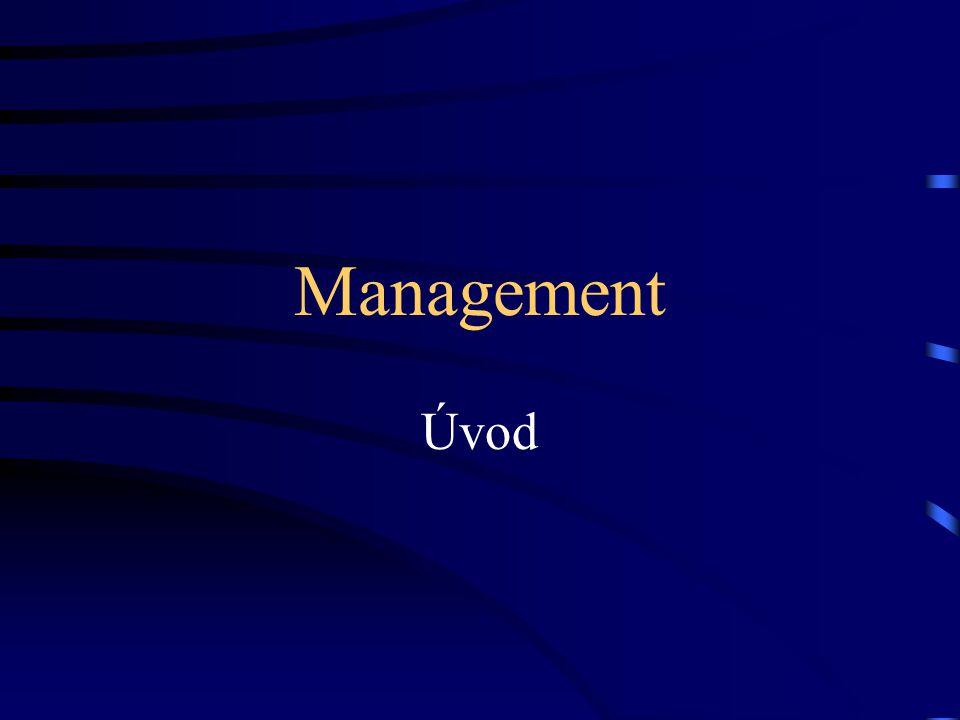 """Vymezení základních pojmů Management """"management  """"řízení"""