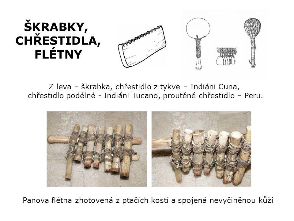 Štěrbinový buben z jednoho kusu dřeva -dutý dřevěný válec s úzkým výřezem po celé délce, přes který se hraje dřevěnými paličkami Blánové bubny -Korpus byl z hlíny, potažený kůží -V této podobě se používají dodnes (bongo, djembe) BUBNY