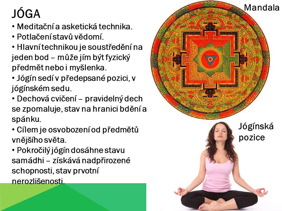 JÓGA Meditační a asketická technika. Potlačení stavů vědomí.