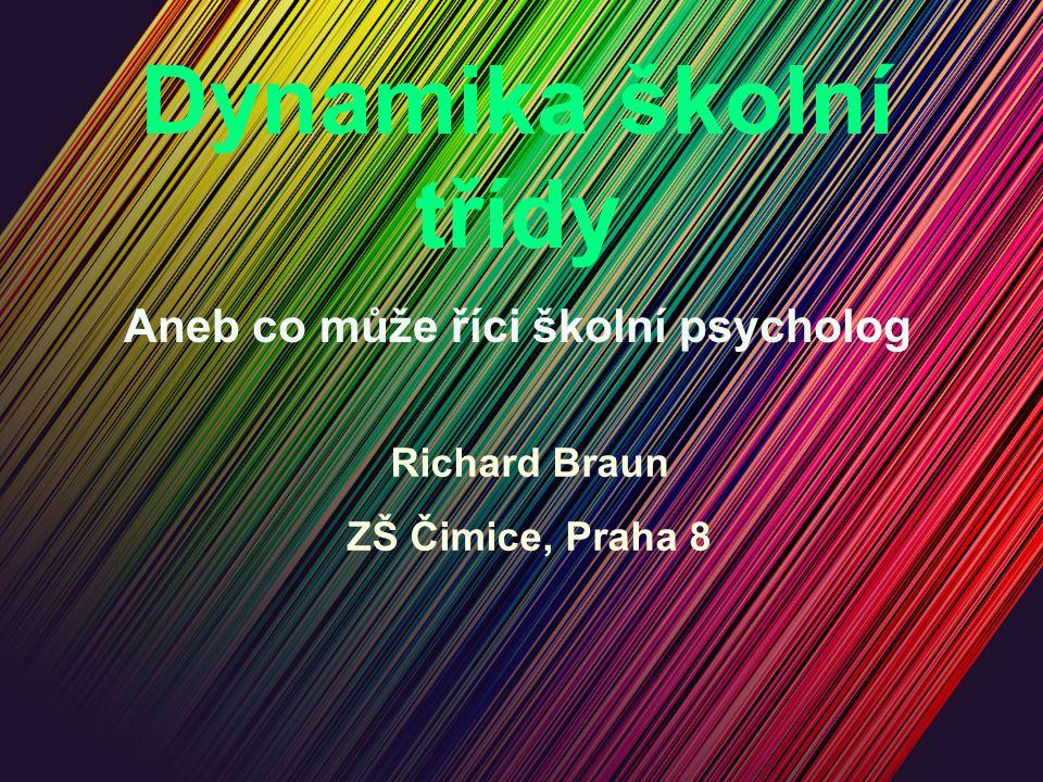 Dynamika školní třídy Aneb co může říci školní psycholog Richard Braun ZŠ Čimice, Praha 8