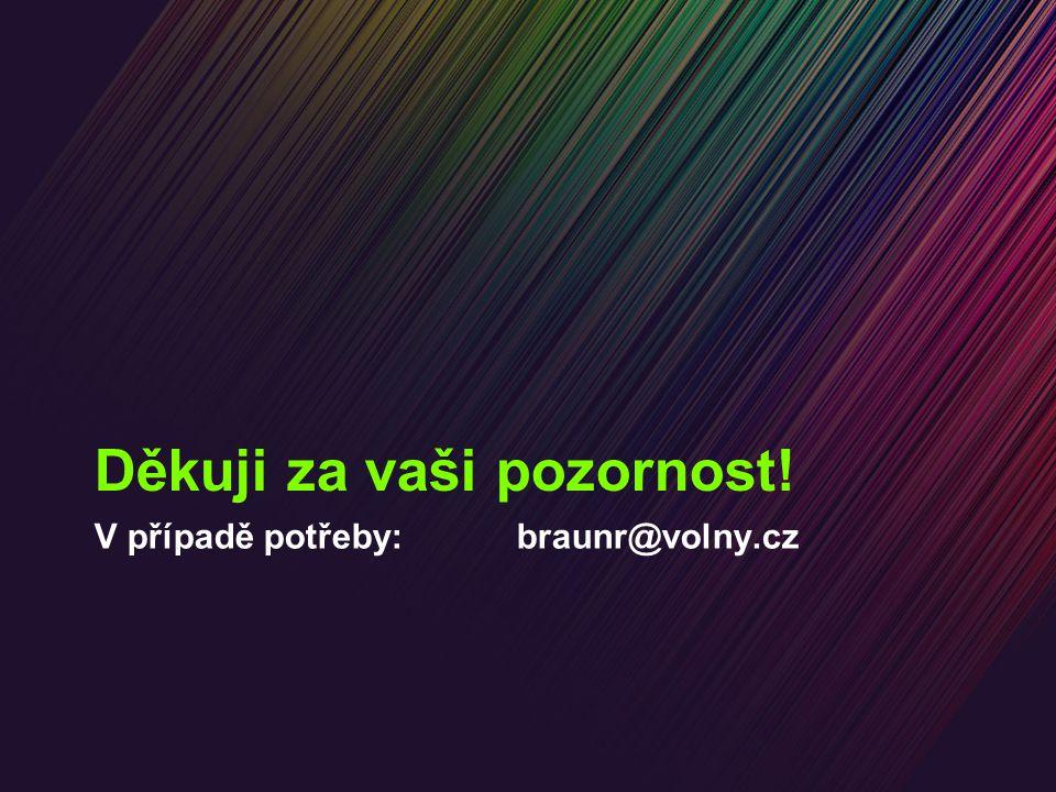 V případě potřeby:braunr@volny.cz Děkuji za vaši pozornost!