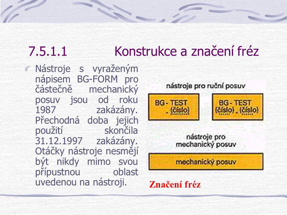 7.5.1.1Konstrukce a značení fréz Protože na frézkách může být prováděno mnoho různých pracovních úkonů, existuje pro tyto účely mnoho různých nástrojů.
