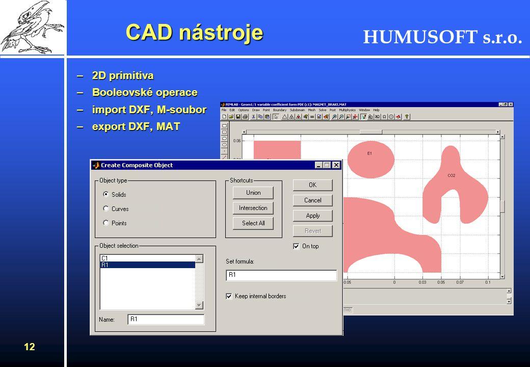 HUMUSOFT s.r.o. 11 Model Navigator Multifyzikální aplikace