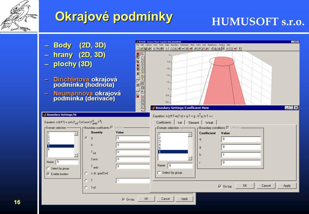 HUMUSOFT s.r.o. 15 CAD nástroje Příklad geometrického modelu - tlaková nádoba