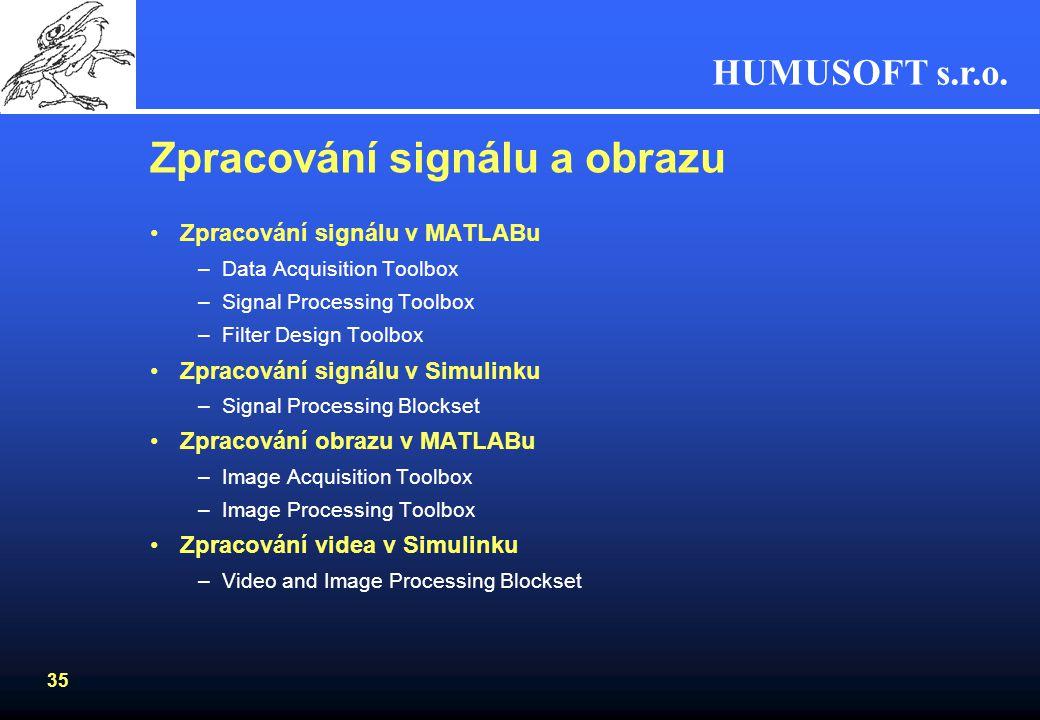 HUMUSOFT s.r.o. 34 SimPowerSystems Zaměřeno na simulaci výkonové elektroniky a energetických systémůZaměřeno na simulaci výkonové elektroniky a energe