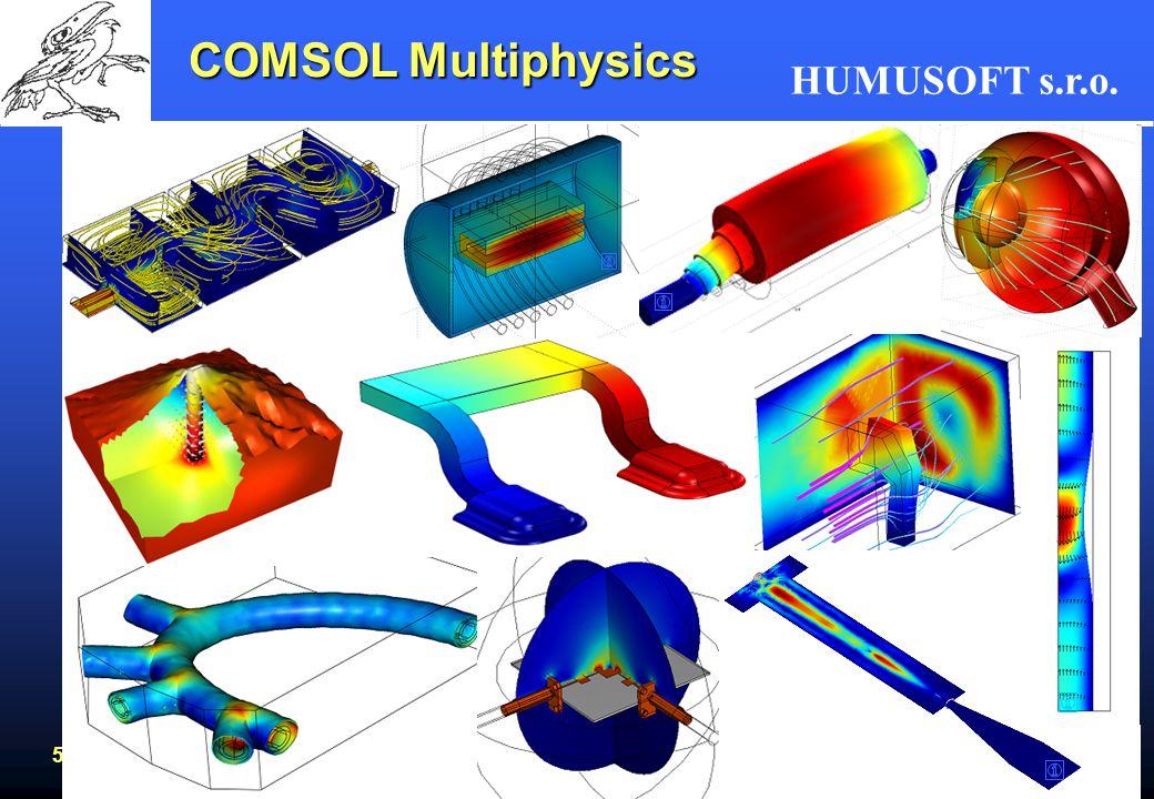 HUMUSOFT s.r.o. 53 COMSOL Multiphysics www.humusoft.cz bittner@humusoft.cz www.comsol.com