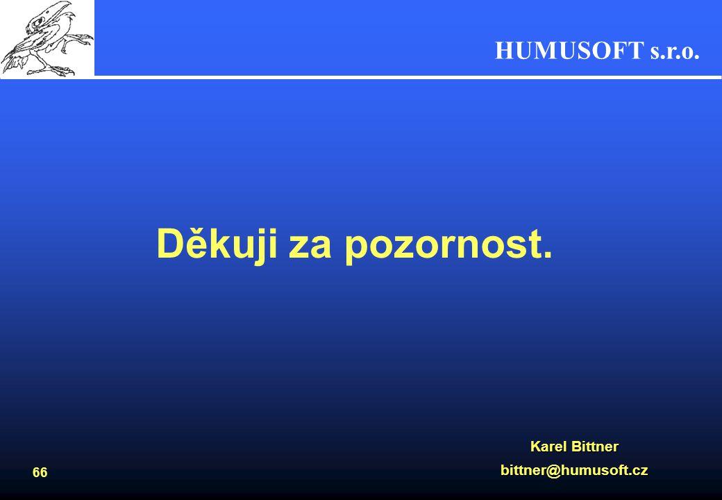 HUMUSOFT s.r.o. 65 Www zdroje informací Internetové stránky -www.humusoft.cz domovská stránka firmy Humusoft s.r.o. -www.comsol.com domovská stránka f