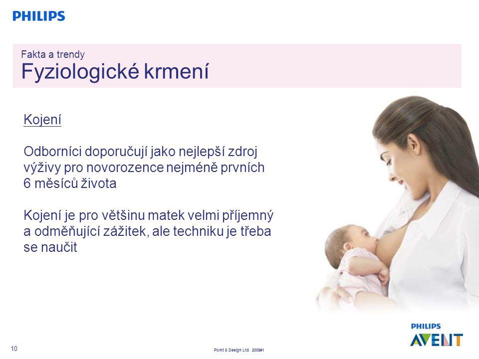 Point 6 Design Ltd. 2008#1 10 Kojení Odborníci doporučují jako nejlepší zdroj výživy pro novorozence nejméně prvních 6 měsíců života Kojení je pro vět