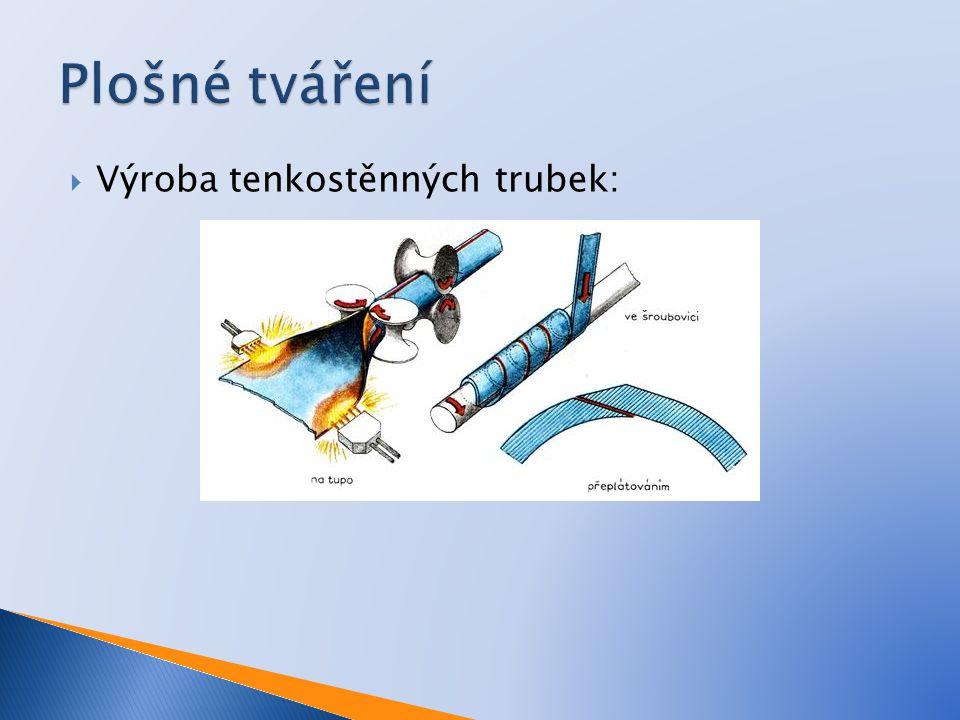  Výroba tenkostěnných trubek: