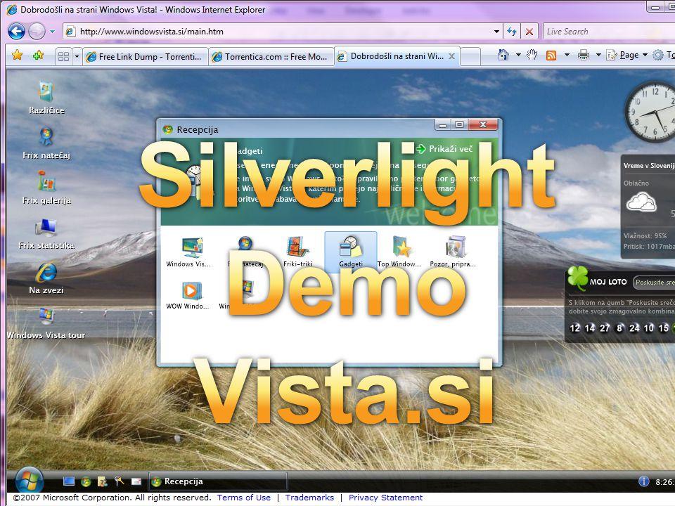 Windows Presentation Foundation –Jednotný přístup k UI, dokumentům a médiím >Integrace jako součást vývoje pocitů –Integrovaná, vektorově-orientovaný kompozitní engine >Využití výkonu PC formou grafických služeb –Deklarativní programování >Zapojíme designery přímo do vývoje aplikací