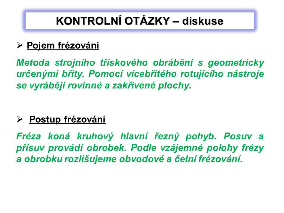 Použité zdroje: ŘASA, Jaroslav, Vladimír GABRIEL.Strojírenská technologie 3.