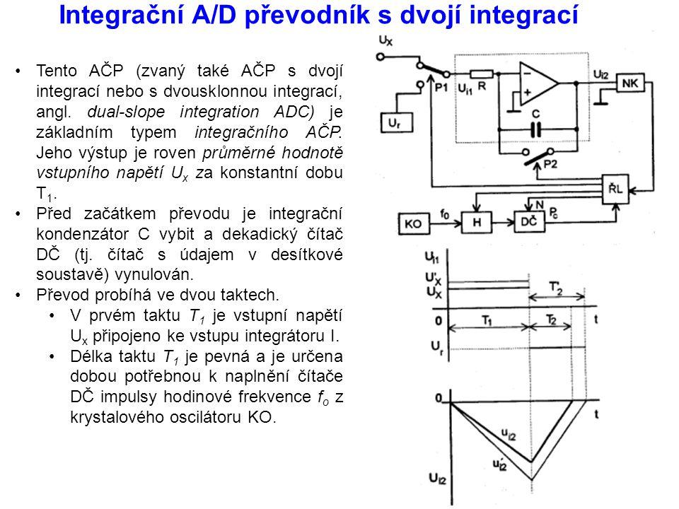 Integrační A/D převodník s dvojí integrací Tento AČP (zvaný také AČP s dvojí integrací nebo s dvousklonnou integrací, angl. dual-slope integration ADC