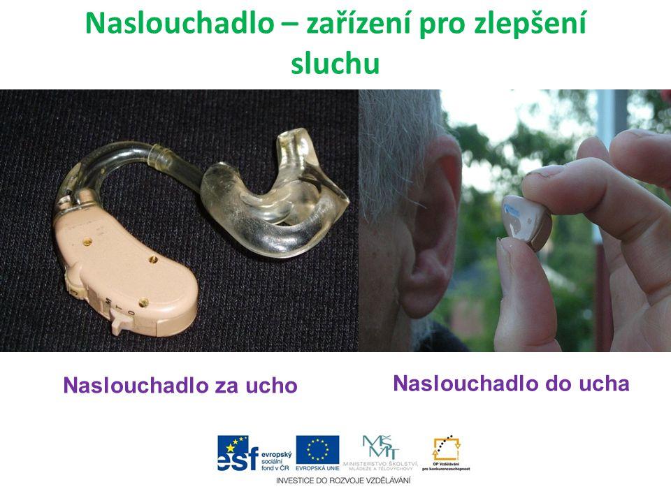 Naslouchadlo – zařízení pro zlepšení sluchu Naslouchadlo za ucho Naslouchadlo do ucha