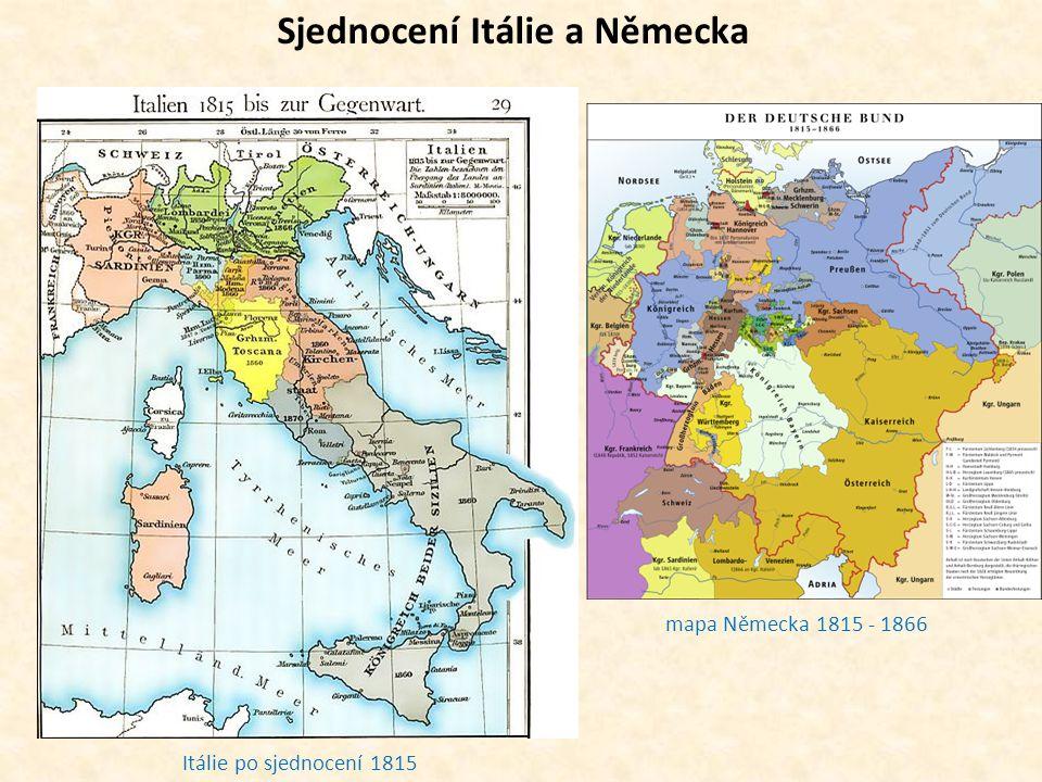 Itálie po sjednocení 1815 mapa Německa 1815 - 1866 Sjednocení Itálie a Německa