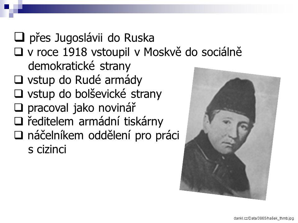 1. světová válka lh5.ggpht.com/.../hasek_jaroslav1920.jpg Jaroslav Hašek v uniformě Rudé armády kolem roku 1920  v roce 1915 dobrovolně narukoval v Č