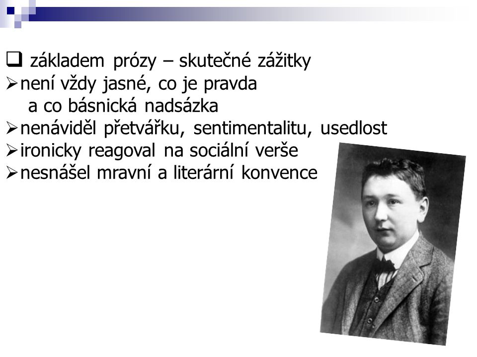 Dílo  zpočátku především cestopisné povídky, črty a humoresky - časopisecky  používal mnoho pseudonymů www.mocek.prodejce.cz/obr/povidky_hasek_1.jpg