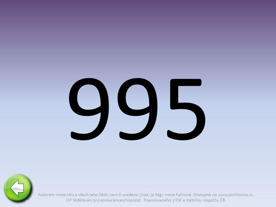 995 Autorem materiálu a všech jeho částí, není-li uvedeno jinak, je Mgr.